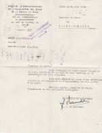 Lettre-  Entete Comité D'organisation De L'industrie Du Cuir - Lille - Traduction Allemande - 1942 - Cachets Généralité
