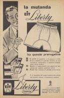 # MAGLIERIA CIT LIBERTY 1950s Advert Pubblicità Publicitè Reklame Underclothes Lingerie Ropa Intima Unterkleidung - He