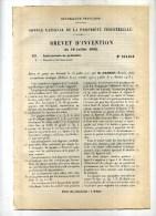 - ACCUMULATEUR ELECTRIQUE . BREVET D´INVENTION DE 1902 . - Autres Appareils