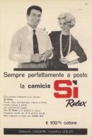 # CAMICIE CASSERA SI RELAX 1950s Advert Pubblicità Publicitè Reklame Shirts Chemises Camisetas Hemden - Signore