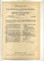 - MOTEUR A EXPLHORLOGE RATIONNEUR AUTOMATIQUE . BREVET D´INVENTION DE 1902 . - Autres