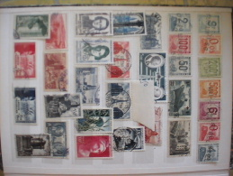 A Album de timbres oblit�r�s ann�es 40 � 59 Cote + de 800 euros !!!