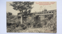 GUINEE Afrique CHEMIN DE FER De KONAKY Au NIGER Pont Du Kilometre 100 CPA Animee Postcard - Guinea