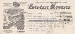 Lettre Change 2/3/1929 MUGNIER Liqueurs Distillerie DIJON Côte D´Or Pour Luc En Diois Drôme - Bills Of Exchange