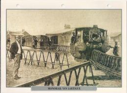 Trein. Train. Locomotive. Monorail Van LARTIGUE  2 Scans - Trains