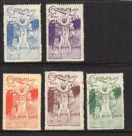 5 Vignettes : Carnaval De Chalon-sur-Saône 1913 - Clown - Carnaval