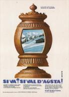 # VAL D�AOSTA Vallee d�Aoste Italy 1971 Advert Pubblicit� Reklame Tourism Tourismus Tourisme Turismo Ski Bob Bobsleigh