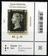 BRD - Michel  3173 Eckrand Rechts Unten - ** Postfrisch (G) - 62+30C Tag Der Briefmarke 15 - Ungebraucht