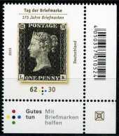 BRD - Michel  3173 Eckrand Rechts Unten - ** Postfrisch (H) - 62+30C Tag Der Briefmarke 15 - Ungebraucht