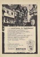 # BRITISH TRAVEL ASSOCIATION ITALY 1950s Advert Pubblicità Reklame Tourism Tourisme Turismo UK England Britain - Posters