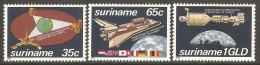 Surinam 1982 Mi# 967-969 ** MNH - Research and Peaceful Uses of Space