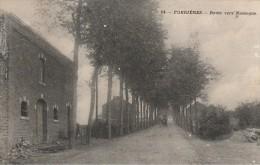 Nassogne Forrières N°14 Route Vers Nassogne Petit Defaut à Gauche 1908 - Nassogne