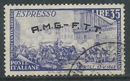 1948 TRIESTE A USATO ESPRESSO RISORGIMENTO 35 LIRE - L1 - 7. Triest