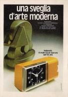 # VEGLIA BORLETTI MILANO OROLOGI HORLOGERIE 1960s  Italy Advert Publicitè Reklame Montre Uhr Reloj Watch Alarme Clock - Orologi Pubblicitari