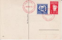 YOUGOSLAVIA FDC MICHEL 459/60 POST CARDS - FDC