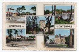 MONTENDRE-Multivues-Souvenir De Montendre (piscine,le Lac,écoles,chateau Croix Gente) Cpsm 14 X 9 N° 12160  éd  Gilbert - Montendre