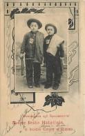 BENEFICENZA PER GLI SPAZZACAMINI. RITRATTO DI BIMBI SPAZZACAMINI PER LA CARTOLINA DI AUGURI NATALIZI - INSOLITA - 1904 - Other
