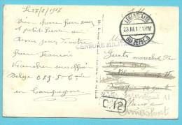 Kaart (van Sous Officier Belge) Met Stempel LEGERPLAATS BIJ ZEIST 3 Op 23/3/17 , Met Stempel CENSURE MILITAIRE - Army: Belgium