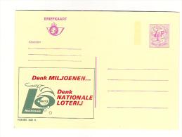 Publibel Neuve N° 2605 (pensez Millions; Pensez Loterie Nationale - Nationale Loterij) - Stamped Stationery