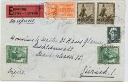 LBL30 - ITALIE LETTRE EXPRES  MILANO / ZURICH 2/5/1933 - 1900-44 Vittorio Emanuele III
