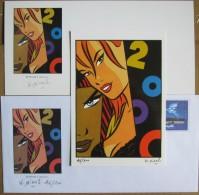 Minus Walter - Pin Up IMAG 2000 - Rare Lot Enveloppe PaP + Carte + Carte Postale - Toutes Signees - Livres, BD, Revues
