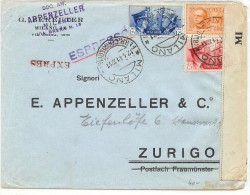 LBL30 - ITALIE LETTRE EXPRES MILANO / ZURICH 12/4/1941 - Poststempel