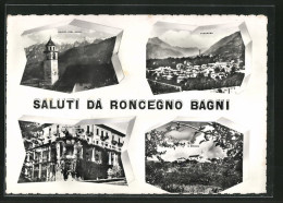 Cartolina Roncegno, Palazzo Terme, S. Brigida E Panorama - Altre Città