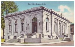 POST OFFICE, NASHUA, NEW HAMPSHIRE, USA (Unused Old Linen Mint Postcard) - Nashua