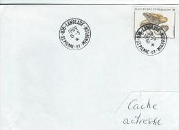 11468  LANGLADE - DATEUR MAL MONTÉ - St PIERRE Et MIQUELON - 1989 - Lettres & Documents