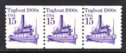 U.S. 2260 X 3  **  TUGBOAT - Coils & Coil Singles
