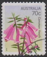 AUSTRALIA - DIECUT - USED 2014 70c Floral Emblems - Pink Heath, Victoria, Perforation 11x11 - 2010-... Elizabeth II