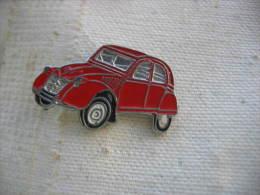 Pin's CITROEN 2CV De Couleur Rouge - Citroën