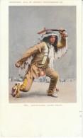 Ojibwa Tribe Arrowmaker, Native American Indian, Detroit Photographic Co. 1903 Vintage Postcard - Native Americans