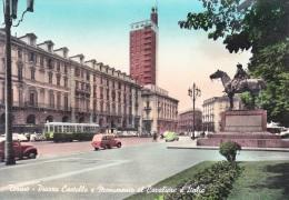 TORINO PIAZZA CASTELLO E MONUMENTO AL CAVALIERE D'ITALIA - Places & Squares