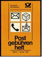 Postgebührenheft Von Der Deutschen Bundespost - Stand 1. Januar 1981 - Briefmarken