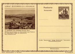 Österreich 1962 Ganzsache Mi P 389 II, 74 Auflage, 16 *, St. Georgen Am Längsee [270815KIV] - 1945-.... 2. Republik
