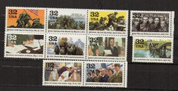 N111- USA  1995 - SC#: 2981 A-j . MNH. WORLD WAR II  - CAT  VALUE $ 15.00 / €  11.36 - Nuovi