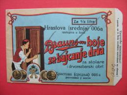 Paper Bag:Brauns-ove Boje Za Bajcanje Drva Za Stolare - Werbung