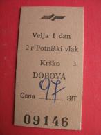 Krsko-DOBOVA Potniski Vlak - Europa