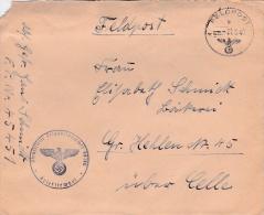 Feldpost WW2: From Boulogne In France - 2. Kompanie Infanterie-Divisions-Nachrichten-Abteilung 321 FP 45451 P/m 27.8.194 - Militaria