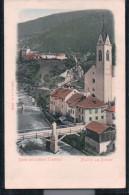 Matrei Am Brenner - Partie Mit Schloss Trautson - Prägekarte - Matrei Am Brenner