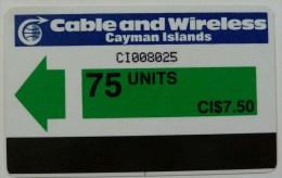 CAYMAN ISLANDS - Autelca - CAY-AU-1 - 75 Units - Control CI.... - Used - Iles Cayman