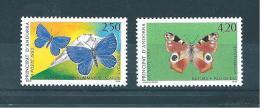 Andorre Timbre De 1993  Papillons  N°432/33  Neufs ** - Neufs