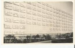 HOLLYWOOD 18 SIGNATURES OF THE STARS AT EARL CAROLL'S - Los Angeles