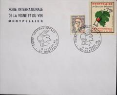 FRANCE - 1966 - Foire Internationale De La Vigne Et Du Vin - Montpellier Le 19.10.1966 - En TBE - - Postmark Collection (Covers)