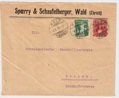 Schweiz, 1918, Brief PJ, Fr. 90.-   , #3221 - Briefe U. Dokumente