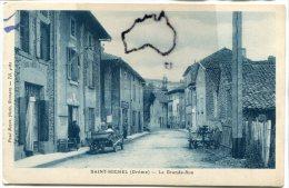 - SAINT-MICHEL - ( Drôme ), La Grande Rue, Rare, Automobiles, Charrue, Photo Paul Boyer, Romans, Non écrite, TBE, Scans - Autres Communes