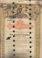 Impero Austro-ungarico 100 Guldel 100 Fiorini Valuta Austriaca Vienna 01 08 1868 Staatsschuld COD:DOC.191 - Azioni & Titoli
