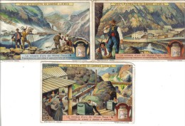 Le Miniere D'oro Del Monte Rosa 3 Figurine Cod.liebig.067 - Liebig