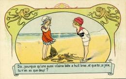 E. OROT - ENFANT - JEUX - PECHE - Art Nouveau - Lot De 2 Cartes - N° 7081 - 7083 - Illustrators & Photographers